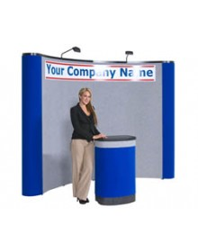 10' Curved Pop Up Display