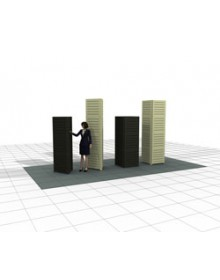 2'W x 8'H Square Slatwall Tower