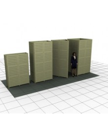 2' x 4' x 8'H Rectangle Slatwall Towers