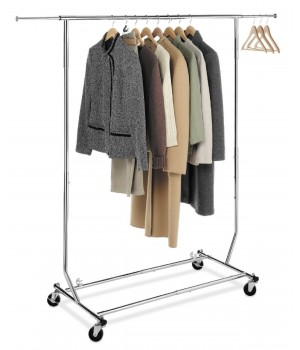 Apparel Rack with clothes