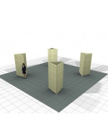 Slatwall Triangle Towers (4'W x 8'H) for Island Booth